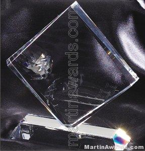 "Crystal Glass Awards - 6 1/2"" x 7"" Genuine Prism Optical"
