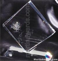 "Crystal Glass Awards - 6"" x 6 1/2"" Genuine Prism Optical"