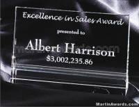 "Crystal Glass Awards - 4"" x 6"" Genuine Prism Optical"