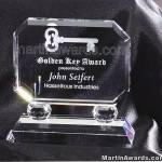 "Crystal Glass Awards - 6"" x 5 1/2"" Prism Optical Crystal"