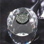 Crystal Glass Awards – 3 1/2″ x 3″ Genuine Prism Optical Crystal With Clock 1