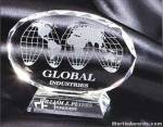 """Crystal Glass Awards - 5"""" x 6 1/2"""" Genuine Prism Optical Crystal With Base"""