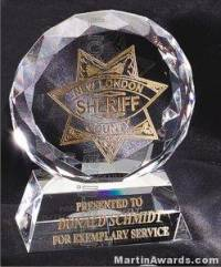 "Crystal Glass Awards - 4"" x 5"" Prism Optical Crystal"