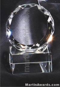 "3 1/2"" x 4"" Genuine Prism Optical Crystal Glass Awards"