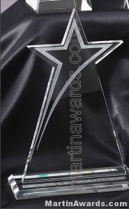 "7"" x 10 1/4""Genuine Glass Awards"