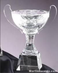 """8 1/4"""" x 10"""" Genuine Glass Awards Cup With Base"""