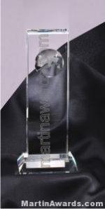 "4"" x 9 1/2"" Genuine Prism Optical Crystal Glass Awards"