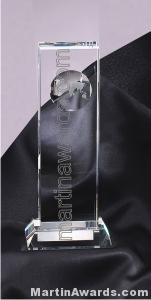 "4"" x 9 1/2"" Genuine Prism Optical Crystal Glass Awards"