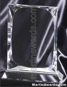 "5"" x 8"" Genuine Prism Optical Crystal Glass Awards"