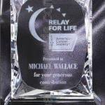 4 1/2″ x 7 1/4″ Genuine Prism Optical Crystal Glass Awards 1