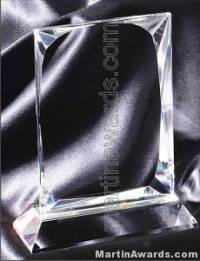 "4"" x 6 1/4"" Genuine Prism Optical Crystal Glass Awards"