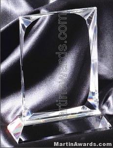 4″ x 6 1/4″ Genuine Prism Optical Crystal Glass Awards 1