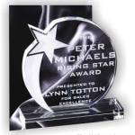 6″ x 6 3/4″ Genuine Prism Optical Crystal Glass Awards Shooting Star With Base 1