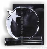 "5 1/2"" x 6"" Genuine Prism Optical Crystal Glass Awards With Base"