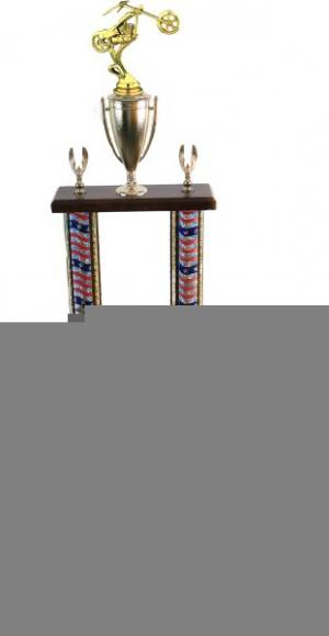 "22""-24"" 2 Column Chopper Trophies (selection of color of extrusion)"