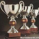 Silver Plated Trophy Cup On Mahogany Base 1
