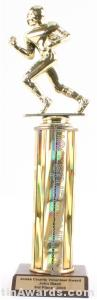 Gold Single Column Football Trophy