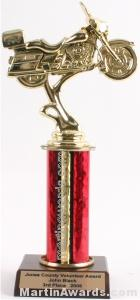 Red Single Column Road Motorcycle Trophy