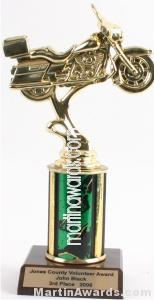 Green Single Column Road Motorcycle Trophy