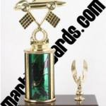 Green Single Column Pinewood Derby Car With 1 Eagle Trophy 1