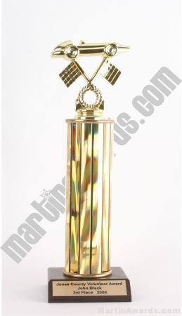 Gold Single Column Pinewood Derby Car Trophy 1