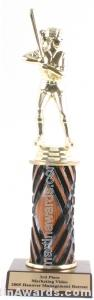 Wood Single Column Female Softball Trophy 1