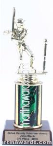 Green Single Column Male T-Ball Trophy