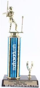 Blue Single Column Male T-Ball With 1 Eagle Trophy