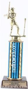 Blue Single Column Male T-Ball Trophy