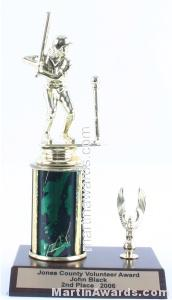 Green Single Column Female T-Ball With 1 Eagle Trophy 1