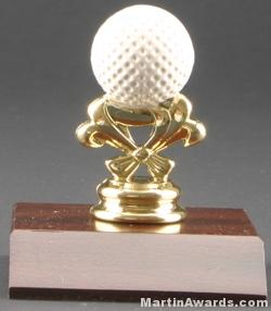Color Golf Ball Trim Trophy 1