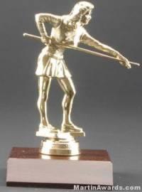 Female Billiards/Pool Trophy