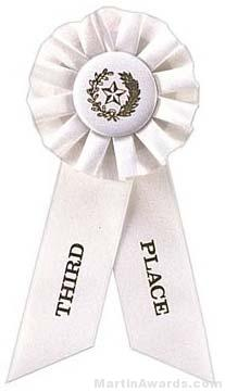 """Rosette, 8.5"""", Third Place Ribbons"""