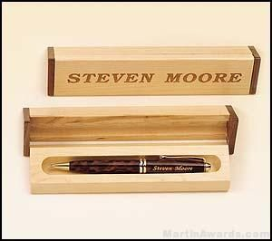 Pen Set with Maple/Walnut Box