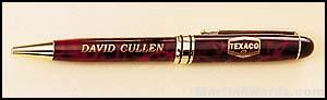 Red Marble Pen with Gold Trim 1