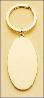 Oval Brass Key Ring