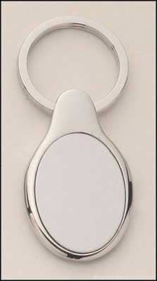Oval Shape Silver Key Rings