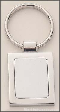Rectangle Shape Silver Key Rings