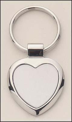 Heart Shape Silver Key Rings