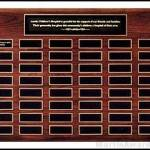 Plaque – Solid American Walnut Perpetual Plaques with Extra Large Individual Plates 1