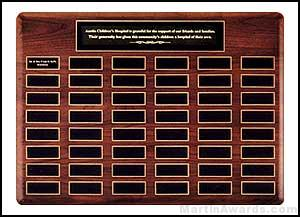 Plaque - Solid American Walnut Perpetual Plaques with Extra Large Individual Plates