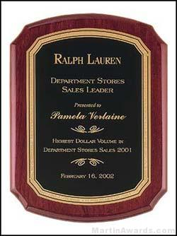 Rosewood Piano-Finish Plaques with Florentine Border 1