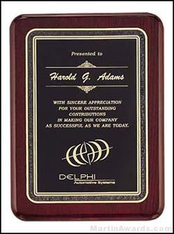Plaque - Piano Finish Plaques with Black Florentine Border