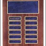 Plaque – American Walnut Perpetual Plaques with Sapphire Marble Finish 1
