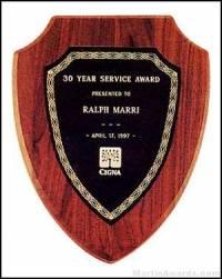 Plaque - American Walnut Plaque Shield Shape