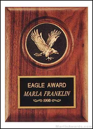Plaque – Walnut Stained Plaques with Cast Eagle Medallion 1