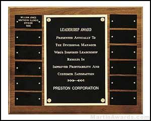Perpetual Plaques with 12 Black Brass Plates