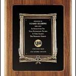 Plaque – Solid American Walnut Plaque w/Cast Columns and Ivy Frame 1