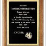 Plaque – Solid Walnut Plaque with Black Brass Plate 1