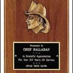 Plaque – Fireman Award Plaques with Cast Fireman 1